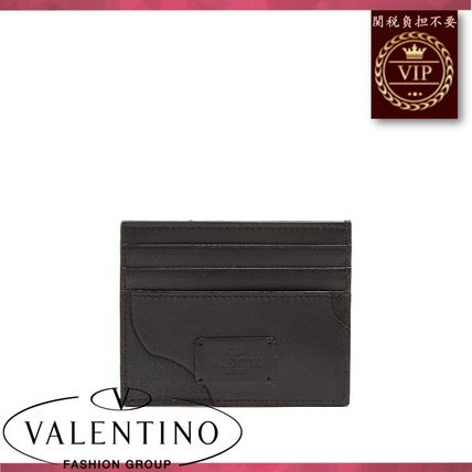 VALENTINO カードケース・名刺入れ ★2017新作★Camouflage canvas and leather cardholder
