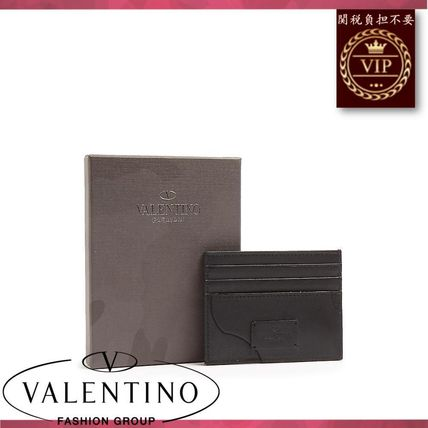 VALENTINO カードケース・名刺入れ ★2017新作★Camouflage canvas and leather cardholder(4)