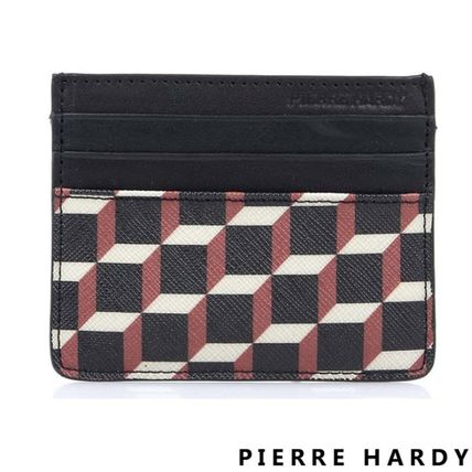 Pierre Hardy カードケース・名刺入れ Pierre Hardy 人気カードケースFW02 CANVAS CUBE CALF MULTI RED