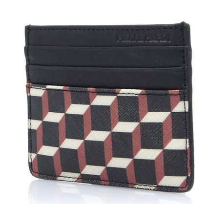 Pierre Hardy カードケース・名刺入れ Pierre Hardy 人気カードケースFW02 CANVAS CUBE CALF MULTI RED(3)