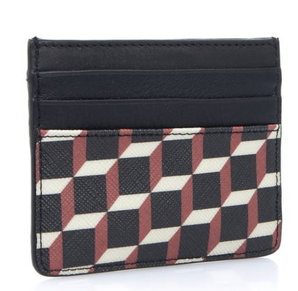 Pierre Hardy カードケース・名刺入れ Pierre Hardy 人気カードケースFW02 CANVAS CUBE CALF MULTI RED(4)