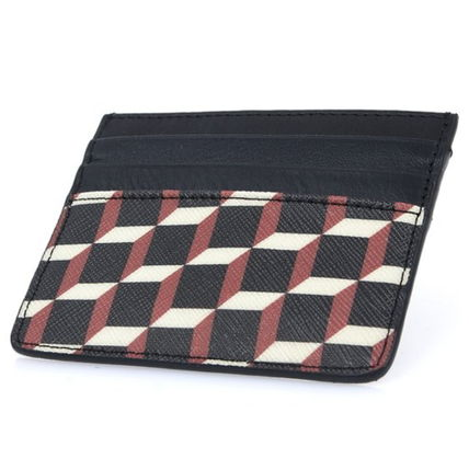 Pierre Hardy カードケース・名刺入れ Pierre Hardy 人気カードケースFW02 CANVAS CUBE CALF MULTI RED(6)