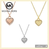 "セレブ愛用者多数☆Michael Kors☆16"" Crystal Heart  Necklace"