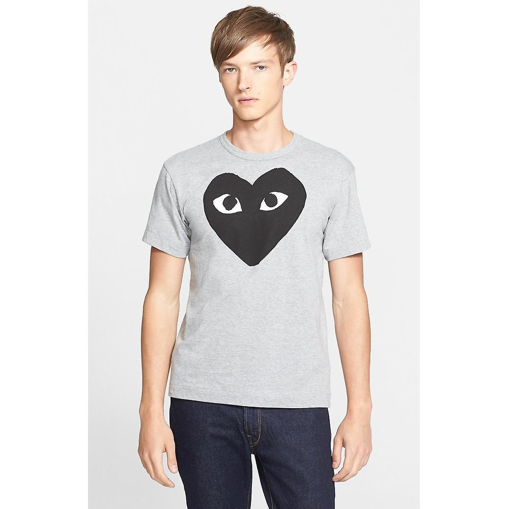 COMME des GARCONS PLAY ロゴクルーネックTシャツ/灰☆関税込☆