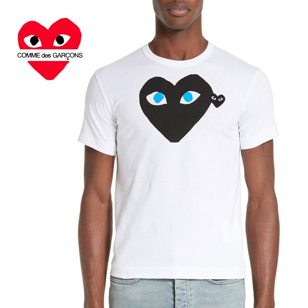 COMME des GARCONS PLAYハートアップリケTシャツ/白☆関税込☆
