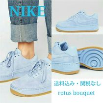 国内発送/NIKE★Air Force1 Upstep Hi Premium/Blueスエード