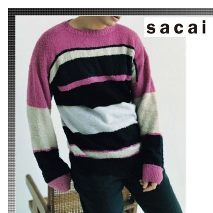 Magazine published 17 SS sacai stipes knit