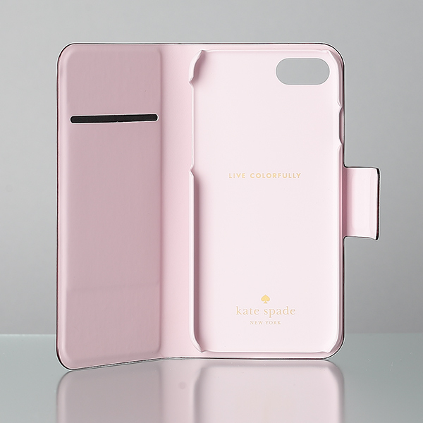 【日本発送】kate spade Leather wrap folio iphone7 case