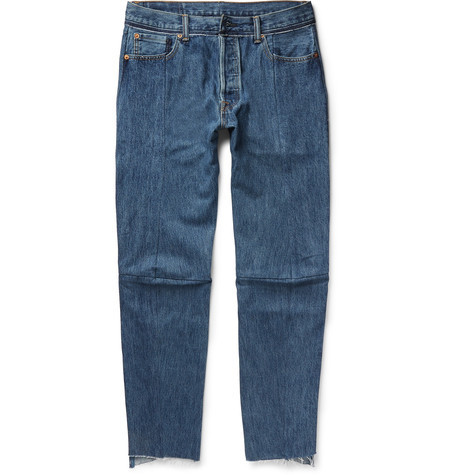 + Levi's SlimFit Tapered Patchwork Denim Jeansコラボジーンズ