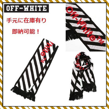 17th SS OFF-WHITE Diagonal logo scarf big scarf / accepted