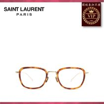 Saint Laurent(サンローラン) メガネ ★2017新作★Rectangle-frame metal glasses