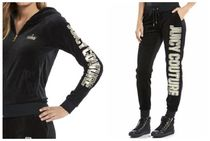 JUICY COUTURE(ジューシークチュール) セットアップ ☆JUICY COUTURE お洒落なベロアセットアップ(ブラックロゴ)☆