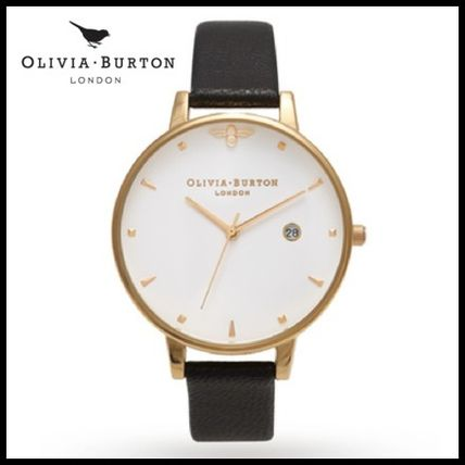追跡送料込♪Olivia Burton BIG DIAL★Queen Bee★ BLACK & GOLD