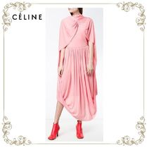【17SS】大人気!!★CELINE★asymmetrical draped dress