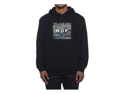 HUF/MUTED MILTARY BOX LOGO PULLOVER-BLK