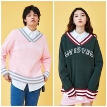 日本未入荷 LUV IS TRUEの(UNISEX)KL V-NECK KNIT 全2色