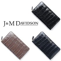 国内即発☆J&M Davidson☆NEW SIZE L ZIP WALLET LEATHER: 3色有