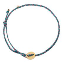 Scosha(スコーシャ) アンクレット SIGNATURE ANKLET, GOLD IN TURQUOISE AND PINK