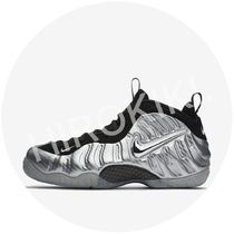 【各1足】NIKE AIR FOAMPOSITE PRO METALLIC SILVER シルバー