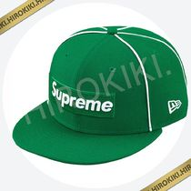 17SS★Supreme Box Logo Piping New Era Cap ニューエラ 緑