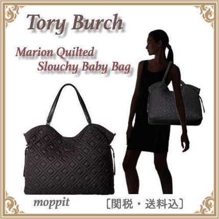 Tory Burch マザーズバッグ [Tory Burch]MARION QUILTED SLOUCHY BABY BAG[マザーズバッグ]