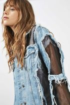 《エッジーなGジャン♪》☆TOPSHOP☆MOTO Organza Denim Jacket