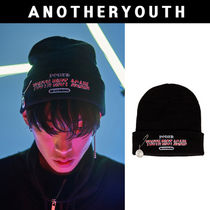 ANOTHERYOUTH(アナザーユース) ニットキャップ・ビーニー ANOTHERYOUTH★正規品★pin beanie - black★日本未入荷