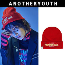ANOTHERYOUTH(アナザーユース) ニットキャップ・ビーニー ANOTHERYOUTH★正規品★pin beanie - red★日本未入荷