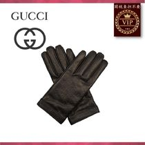 GUCCI(グッチ) 手袋 ★2017新作★Signature leather GG debossed gloves