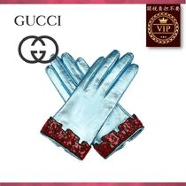 GUCCI(グッチ) 手袋 ★2017新作★Sequinned-cuff leather gloves