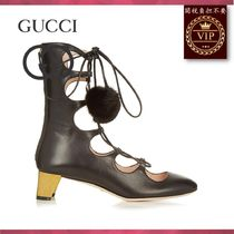 GUCCI(グッチ) ミドルブーツ ★2017新作★Heloise lace-up leather boots