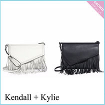 【Kendall + Kylie】新作!レザー フリンジ クラッチバッグ☆2色