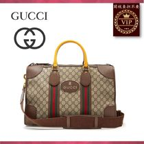 GUCCI(グッチ) ボストンバッグ ★2017新作★GG Supreme canvas and leather holdall