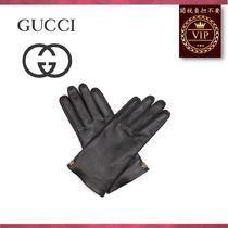 GUCCI(グッチ) 手袋 ★2017新作★Grained-leather gloves