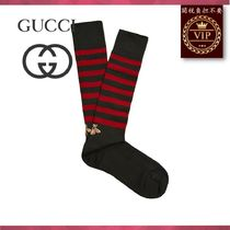 GUCCI(グッチ) その他ファッション ★2017新作★Lazy bee-embroidered striped socks