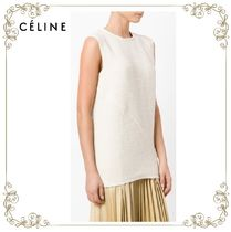 【17SS】大人気!!★CELINE★tweed sleeveless top