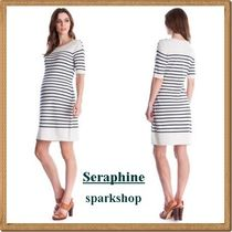 Seraphine(セラフィン) ワンピース ★2017SS★Seraphine★授乳可♪ ボーダーマタニティワンピース★