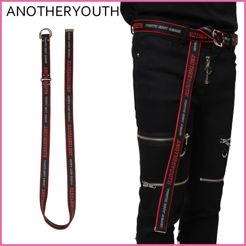 【ANOTHERYOUTH】正規品★UNISEX Dリング ベルト/追跡送料込