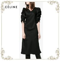 【17SS】大人気!!★CELINE★V-neck ruched dress