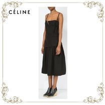 【17SS】大人気!!★CELINE★flared skirt mid-length dress