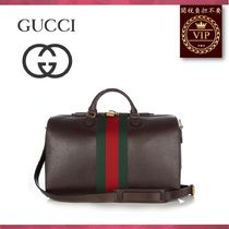 GUCCI(グッチ) ボストンバッグ ★2017新作★Grained-leather holdall