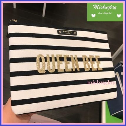 【kate spade】QUEEN BEEロゴ♪ ポーチ&クラッチ 'gia'★