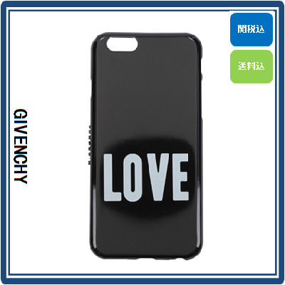GIVENCHY スマホケース・テックアクセサリー GIVENCHY 'LOVE' IPHONE CASE (BLACK/WHITE) 国内発送