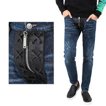 DSQUARED2 16AW レザージッパーパッチ ジーンズ_CLEMENT JEAN