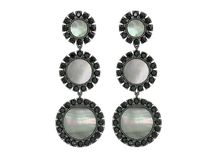 Tory Burch(トリーバーチ) イヤリング・ピアス Deco Flower Drop Earrings Dark Mother-of-Pearl/Black