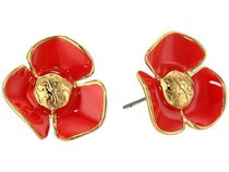Tory Burch(トリーバーチ) イヤリング・ピアス Tory Burch★Fleur Studs Earrings Samba/Tory Gold▽送料関税込