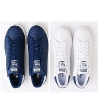 2017春モデル/adidas Stan Smith Woven Leather/blue-white