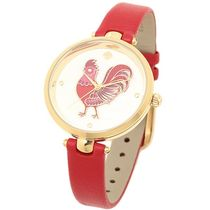 kate spade new york(ケイトスペード) アナログ腕時計 kate spade*holland gold red leather KSW1232