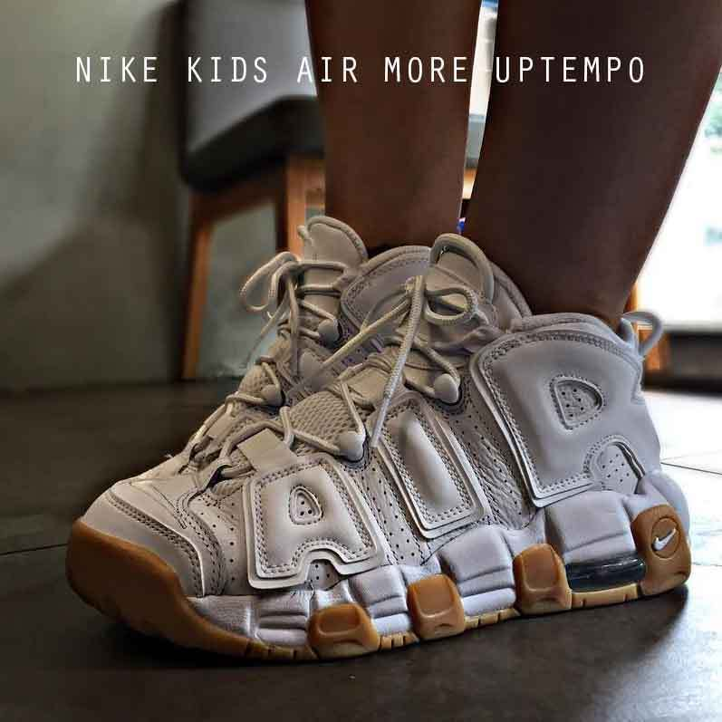 NIKE AIR MORE UPTEMPO ホワイト ガムソール キッズ レディース