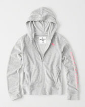 [送料無料] Abercrombie & Fitch terry graphic full-zip hoodie